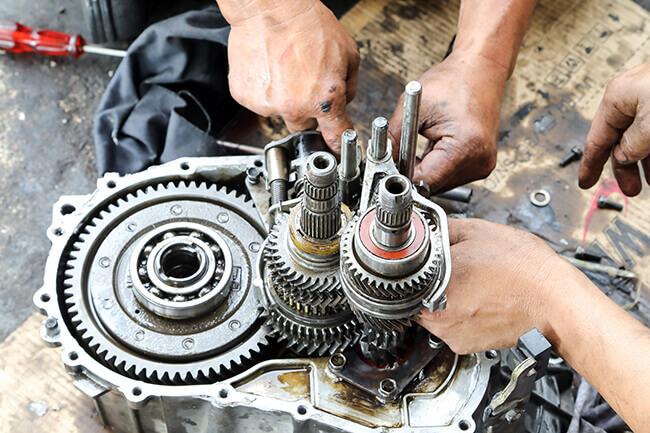Transmission gear box repair
